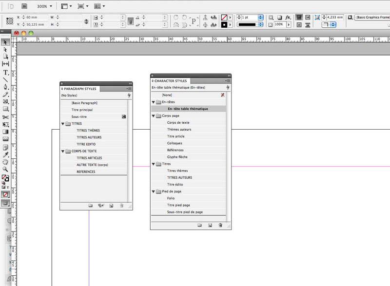 Création de styles sous InDesign
